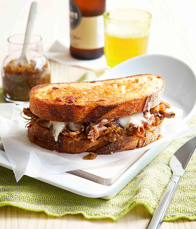 "[Toasted lamb sandwich with fontina and green tomato relish](https://www.gourmettraveller.com.au/recipes/chefs-recipes/toasted-lamb-sandwich-with-fontina-and-green-tomato-relish-9110|target=""_blank"")"