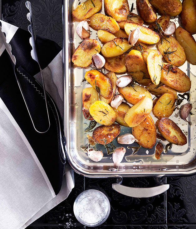"[**Perfect roast potatoes**](https://www.gourmettraveller.com.au/recipes/browse-all/perfect-duck-fat-roast-potatoes-10470|target=""_blank"")"